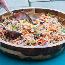 Farro, Carrot, Red Onion, and Olive Salad