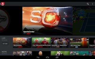 Screenshot of WatchESPN