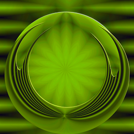 by Dipali S - Digital Art Abstract ( green, digital art, sphere, design )