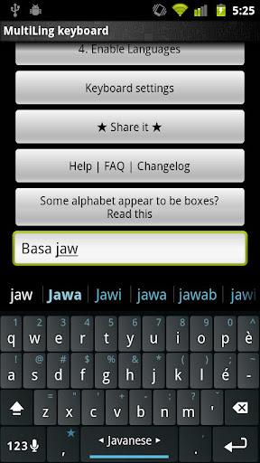 Javanese Keyboard plugin