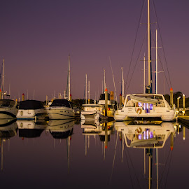 Gladstone Marina by Gurung Purna - Transportation Boats ( water, reflection, sky )