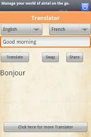 Screenshot of Translator