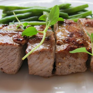 Tender Lamb Brochettes with Thyme and Haricots Verts