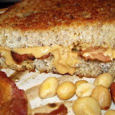Grilled Peanut Butter and Bacon Sandwich