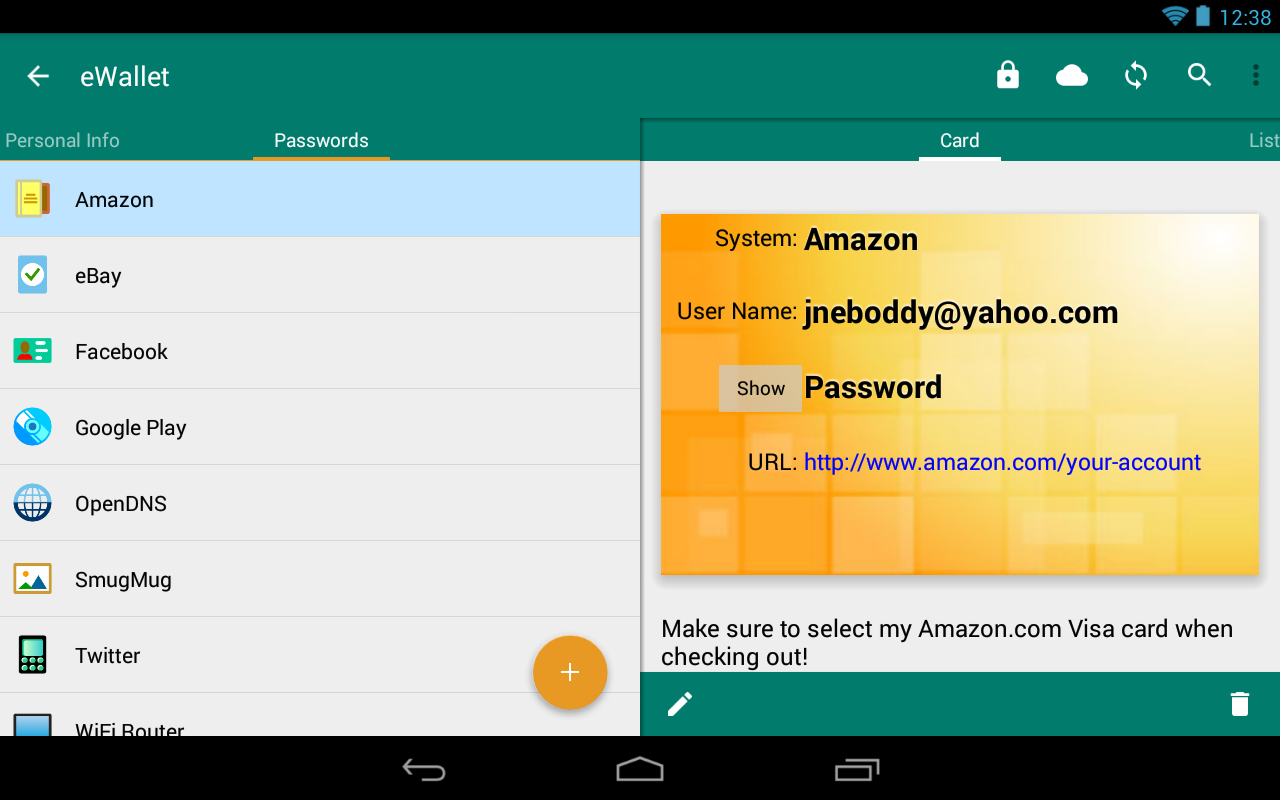 eWallet - Password Manager Screenshot 18