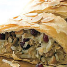 Turkey-Cranberry Strudel