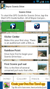 Bryce Canyon Scenic GPS Guide - screenshot