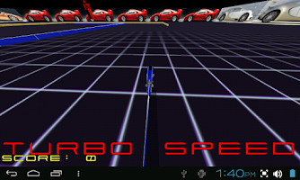 Screenshot of TRON LIGHTCYCLE ROCK RACE GAME
