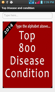 Top 800 Disease Condition screenshot for Android