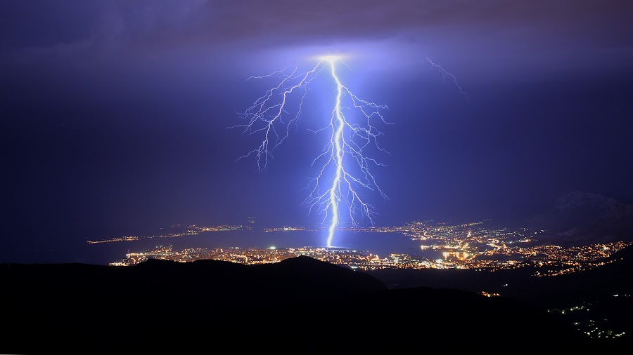 Lightning by Tin Juginovic - Landscapes Weather ( lightning, croatia, split,  )
