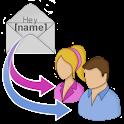 Circular SMS icon