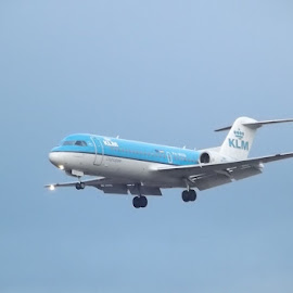 by Danny Fowler - Transportation Airplanes ( airport, uk, landing, airplane, hoildays )