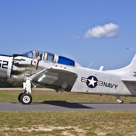 EA-1E Skyraider by Jim Baker - Transportation Airplanes