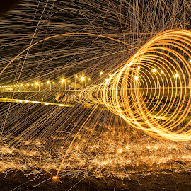 Dramatic worms by Yh Tan - Abstract Light Painting ( #steelwool, #photography, #canon )