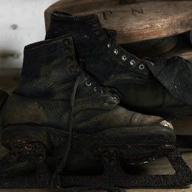 Old Ice Skates by Patti Martin - Artistic Objects Antiques ( history, old, skates, ice, antique )