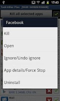 Screenshot of Task Killer Free Plus++
