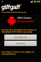 Screenshot of giffgaff