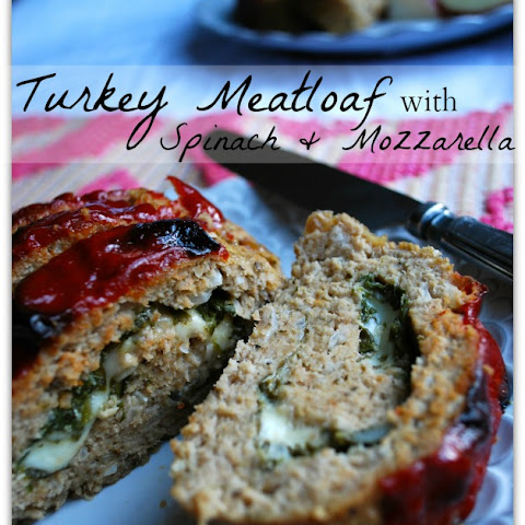 Turkey Meatloaf with Spinach & Mozzarella