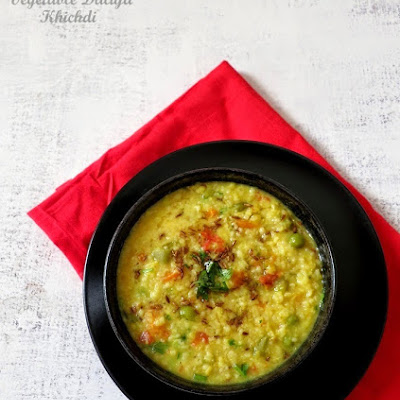 Vegetable Lentil And Broken Wheat Porridge