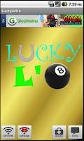 Screenshot of lucky lotto