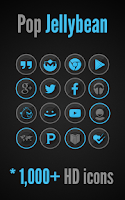 Screenshot of Pop Blue - Icon Pack