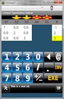 Screenshot of Linear Equations Solver