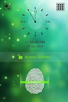 Screenshot of Fingerprint Lock Screen