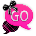 GO SMS - Hot Pink Plaid icon