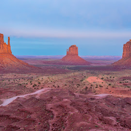 Blue Hour at Monument Valley by Pascal Hubert - Landscapes Deserts