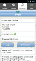 Screenshot of Austin Bank Mobile