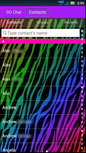 【免費個人化App】GO SMS Rainbow Zebra Theme-APP點子