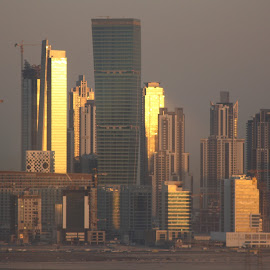 Downtown Dubai at Dawn by Glyn Lewis - Buildings & Architecture Office Buildings & Hotels