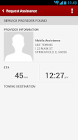 Screenshot of Verizon Roadside Assistance
