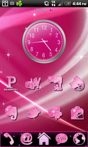 Pretty Pink Glitter theme 4 Go