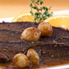 Brisket with Onions & Orange Wine Sauce