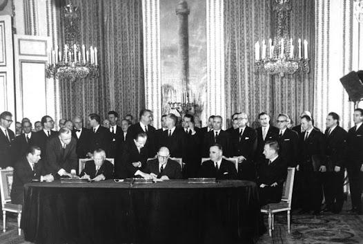 Unterzeichnung des Élysée-Vertrags, 22.01.1963.