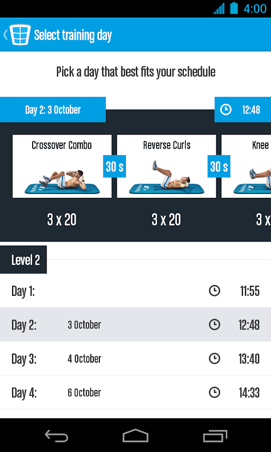 Runtastic Six Pack Ab Workout Screenshot 0