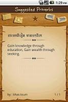 Screenshot of Khmer Proverbs