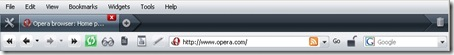 Opera - Customised Toolbar