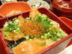 【渋谷ランチ】鮭親子弁当(郷土料理ユック北の海道 渋谷店)