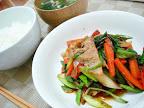 【自炊】豚肉とネギとニラの野菜炒め