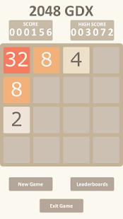 2048 GDX with leaderboard - screenshot