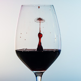 Cheers by Claus Dahm - Food & Drink Alcohol & Drinks ( abstract, wine, red wine, drop, liquid art, glass, collision,  )