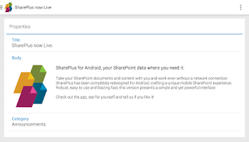 Screenshot of SharePlus - SharePoint Mobile