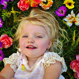 Smile Like a Flower by Cheryl Korotky - Babies & Children Child Portraits