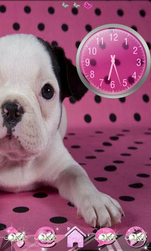 Go Launcher Pink Puppy theme