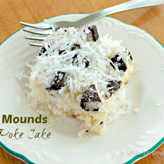 Mounds Poke Cake