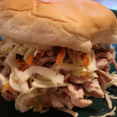North Carolina-Style Pulled Pork Sandwiches and Coleslaw