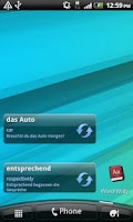Screenshot of German Words Widget