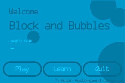 Blocks and Bubbles
